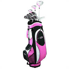 GOLFGIRL FWS2 LADIES PETITE GOLF RIGHT HNAD CLUBS SET WITH BAG PINK