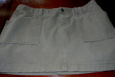 LUCKY BRAND DUNGAREES WOMANS SIZE 8/29 GREEN 100% COTTON MINI SKIRT BUTTON/SNAP