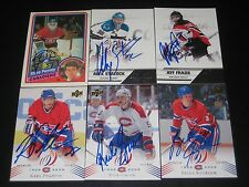"""RICK GREEN autographed MONTREAL CANADIENS """"centennial"""" card #102"""