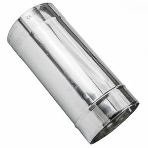 Stainless Steel Chimney Flue Liner Rigid Pipe Multi Fuel Stoves Ø8-25cm, 0.25-1m