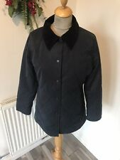 Barbour Smu Classic Newmarket quilted blue  Jacket  size 10 chest 36