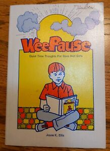 Wee Pause Quiet Time Thoughts for Boys & Girls Book Joyce K. Ellis vintage