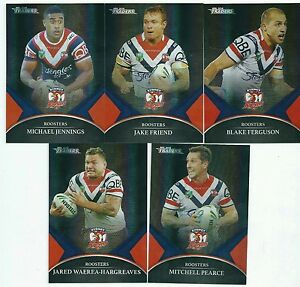 2016 NRL Traders Black Parallel Special ROOSTERS Team Set FREE POSTAGE
