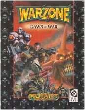 WARZONE: DAWN of WAR - war game miniature combat sourcebook - MUTANT CHRONICLES