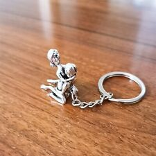 Love Sex Keychain Pendant Ancient Silver Creative Retro Collection Car Key Ring