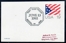 1992 Special `Station` cancel. 19c Card. `Point Basse, Nekoosa, WI`