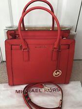 Michael Kors Large Dillon Bag, Mandarin Saffiano Leather, SUPERB CONDITION