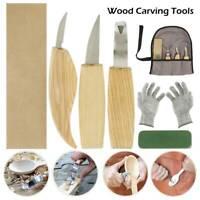 6x/set couteau découper en bois ciseau whittling cutter puce outil à main PS