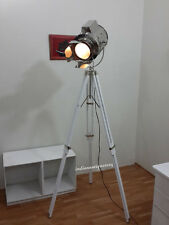 Theater White Antique Spotlight Tripod Floor Lamp Christmas gift Home Decorative