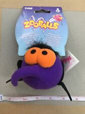 Zooballs Retro 90's Toy 1996 TAG ON Purple Bug Collectors RARE