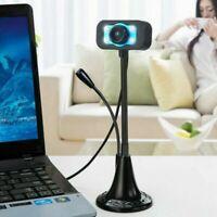 Web Webcam Camera MIC HD PC Laptop Desktop Computer USB 2.0 With Microphone UK