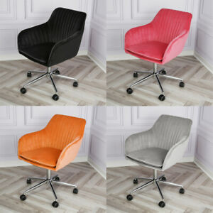 Genesis Apollo Scallop Cushioned Velvet Computer Home Office Swivel Accent Chair