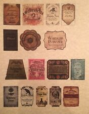 "LABELS ONLY Small Apothecary Potion Bottles Harry Potter Party Prop 2"" Tall"