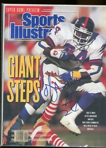 OTTIS OJ ANDERSON NEW YORK GIANTS SPORTS ILLUSTRATED signed autographed