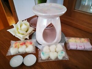 Large Pearl Tea Light Wax Melt Burner With Wax Melts
