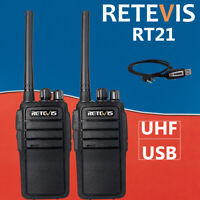 Retevis RT21 Walkie Talkies Two Way Radio VOX Scan Scramble 2.5W UHF400-480MHz