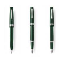 Montegrappa Armonia penna sfera roller stilografica M, verde finiture acciaio