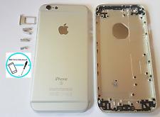Backcover Akkudeckel Rück Cover Gehäuse Rahmen für iPhone 6S Silber Weiß Taste