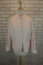 NEW Chicos Womens Blazer Jacket Sz 2 L 12 Pale Pink Large Button Down Top Coat