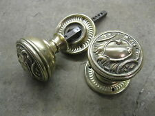 Pair Original Reclaimed Brass Door Knobs 0216