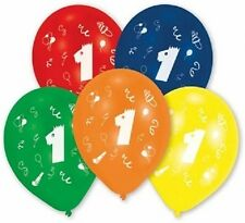 Luftballon rund Zahl 1 bunt