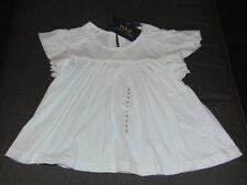 Polo Ralph Lauren Cotton Rich S/Sleeve Ruffle Top 6yrs 116cm White BNWT