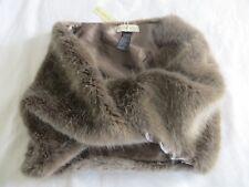 BNWT Monsoon Ladies Faux Fur Light Brown Snood Scarf RRP £35