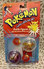 Pokemon Battle Figures # 21 22 Spearow Fearow Poke Ball Battle Discs 1999