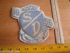1955 SD Mustangs lettermans patch for jacket sweater