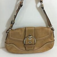 Coach Purse Brown Leather Hobo Soho Braided Strap Buckle Shoulder Bag 10578
