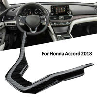ABS Carbon Fiber Style Steering Wheel Cover Trim Interior For Honda Accord 2018