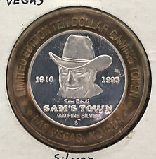 Sam's Town $10 .999 Fine Las Vegas Nevada Silver Gaming Token LM