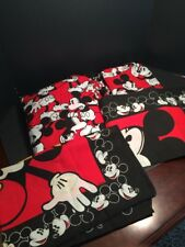 VINTAGE Disney Mickey Mouse 14193 Twin Set Sheet, Fitted Sheet, 2 pillow cases