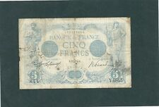 BILLET 5 FRANCS BLEU  Type  1905