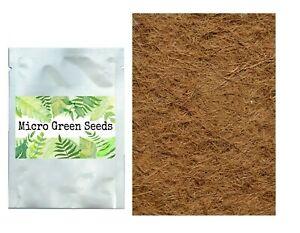 Microgreen Coconut Husk Growing Mats and Microgreen Seeds