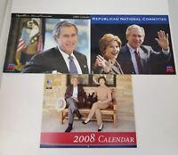 President George W Bush Republican National Committee Calendars Set of 3