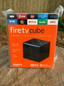 Amazon Fire TV Cube Smart Assistant Alexa 4K Ultra HD with Remote 2nd Generation