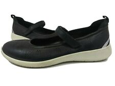 Ecco Danish Design Mary Jane Black/White With Adjustable Straps Women's Size 41