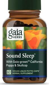 Gaia Herbs Sound Sleep, Sleep Support 60 vegan caps