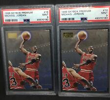 1996 Skybox Premium #16 MICHAEL JORDAN PSA 9 MINT Chicago Bulls HOF Lot of x2