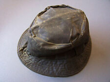 Barbour A115 Waxed Cotton Sports Hat Small Olive Green Vintage # ACCp127