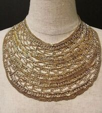 BCBG MAX AZRIA CHAIN AND CRYSTAL STATEMENT NECKLACE