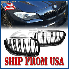 US Black Front Center Grille Glossy Shiny For BMW F10 520i 528i 535i 550i 11-15