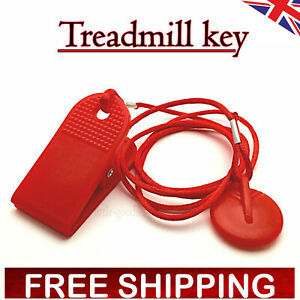 RED MAGNETIC TREADMILL RUNNING MACHINE SAFETY KEY REPLACEMENT TAG UK