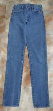 Vintage 90s Wrangler Womens 14MWZG Slim Fit 25x34 Blue Jeans Cowboy 5x36 USA