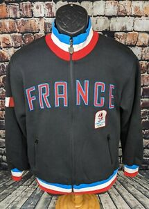 Olympic Museum Collection Sweatshirt France 1992 TRACK JACKET MENS SMALL WOMENS