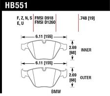Hawk Performance HB551Z.748 Stable Friction Output Disc Brake Pads