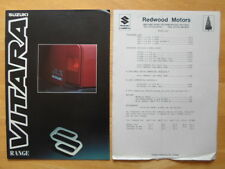 SUZUKI Vitara range 1992 UK market sales brochure + price list - JLX