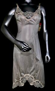 VINTAGE OLGA NWT Nightgown Slip Chemise Nighty LINGERIE DRESS Nylon Sissy Lace