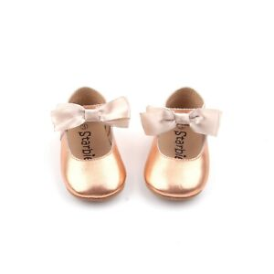 Starbie Soft-Sole Baby Mary Jane Baby Shoes Rose Gold Baby Moccasins Toddler